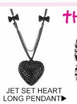 Shop Jet Set Heart Long Pendant