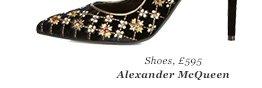 Shoes, £595 Alexander McQueen