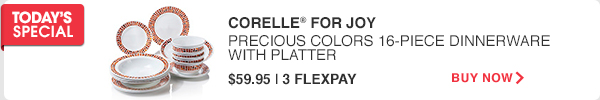 TODAY'S SPECIAL | CORELLE® FOR JOY | BUY NOW