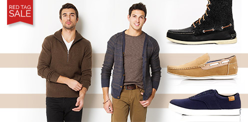 Fall Red Tag Sale Shop: Mens apparel & Shoes