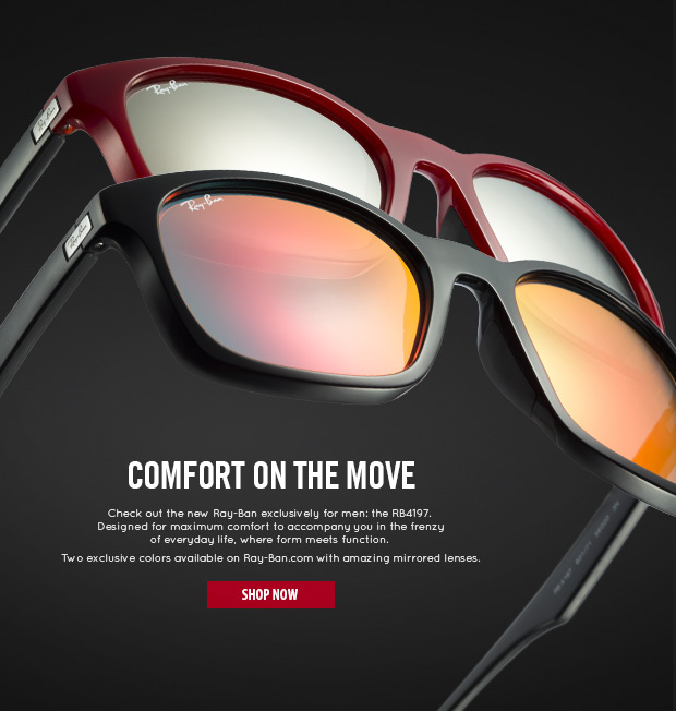 Comfort on the move: check out the new Ray-Ban 4197