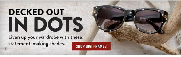 Decked out in dots - shop Gigi frames