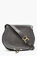 CHLOE Black Leather Marcie Satchel for women