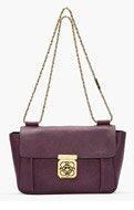 CHLOE Medium Purple Pansy Leather Elsie Shoulder Bag for women