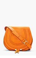 CHLOE Medium Indian Summer Orange Leather Marcie Shoulder Bag for women