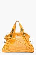CHLOE Rust Leather Medium Paraty Shoulder Bag for women