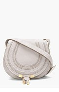 CHLOE Grey Leather Small Marcie Shoulder Bag for women