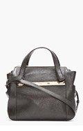 CHLOE Black PEbbled leather Mini Bridget Shoulder Bag for women