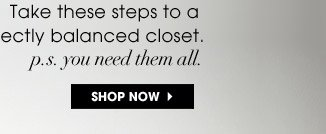 Take these steps to a perfectly balanced closet. p.s. you need them all | SHOP NOW