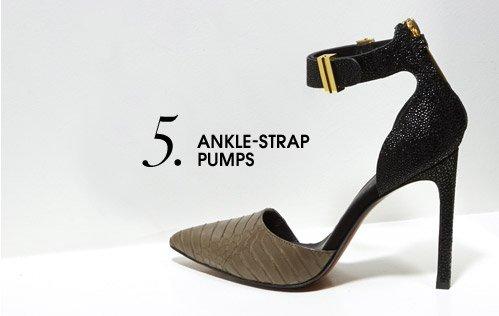 5. ANKLE–STRAP PUMPS
