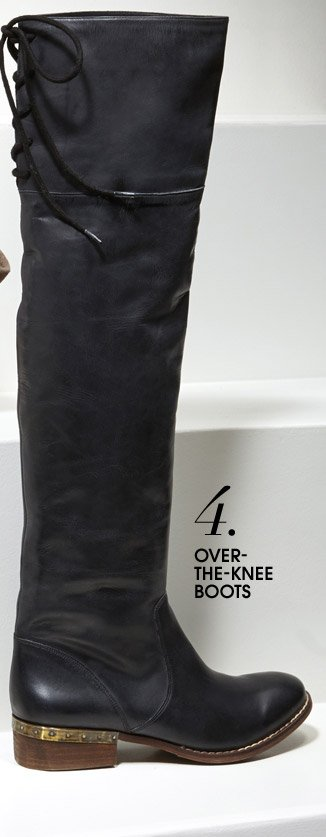 4. OVER–THE–KNEE BOOTS