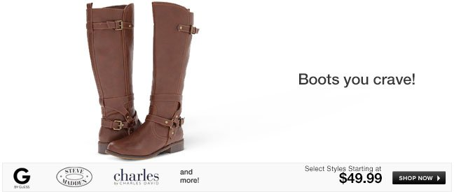 Boots you crave!