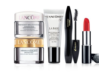 LANCÔME BIENFAIT MULTI-VITAL CREAM SPF 30 | ABSOLUE NIGHT | LA BASE PRO | HYPNOSE DRAMA MASCARA | COLOR DESIGN LIPSTICK in Groupie