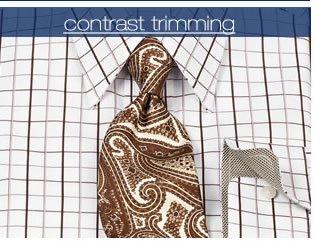 Contrast Trimming Dress Shirts