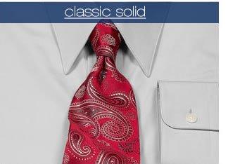 Classic Solid Dress Shirts