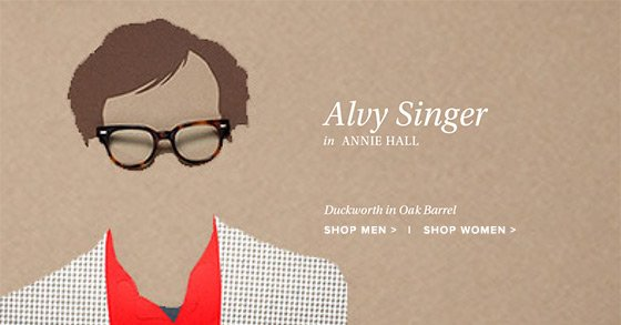 Alvy Singer in Annie Hall. Duckworth in oak barrel.