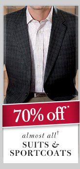 Suits & Sportcoats - 70% Off*