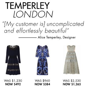 TEMPERLEY LONDON UP TO 65% OFF
