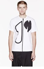 COMME DES GARÇONS SHIRT White & Black Big Print t-shirt for men