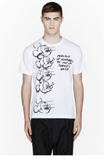 COMME DES GARÇONS SHIRT White Mickey Mouse Character Design t-shirt for men
