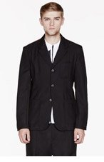 COMME DES GARÇONS SHIRT Black racing stripe blazer for men