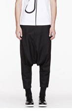 COMME DES GARÇONS SHIRT Black twill low-rise trousers for men