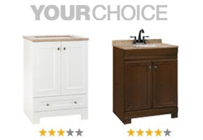 Your Choice: Style Selections Emberlin White or Style Selections Windell Java.