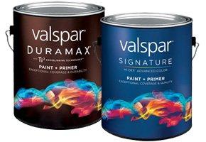 Valspar Duramax and Signature Paint Cans