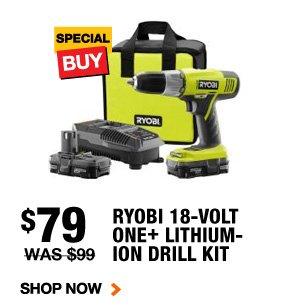 79 Ryobi 18 Volt Drill Kit