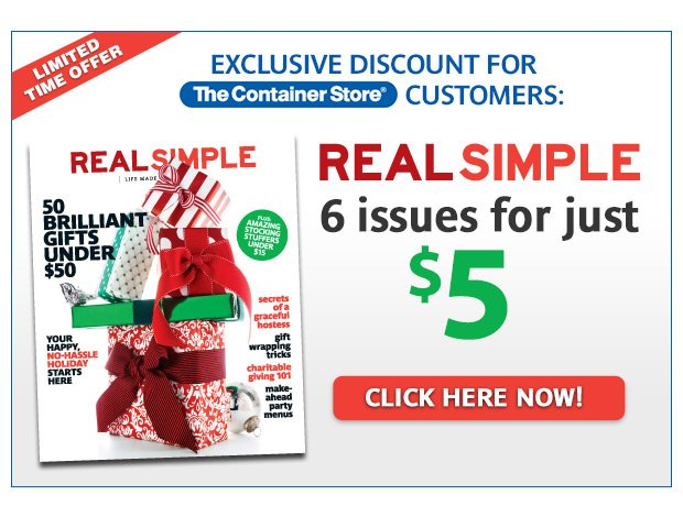 Exclusive Discount for The Container Store Customers