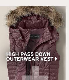 Shop Women's High Pass Down Outerwear Vest