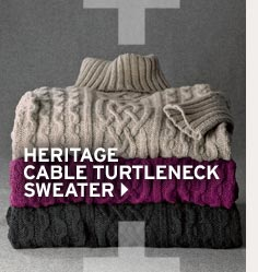 Shop Women's Heritage Cable Turtleneck Sweater