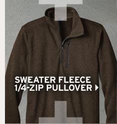 Shop Men's Sweater Fleece 1/4-Zip Pullover