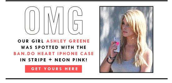 Ashley Greene with a ban.do!