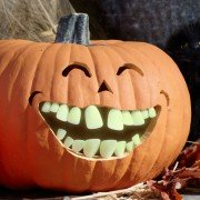 Glow in the Dark Pumpkin Teeth