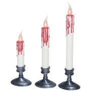 White Blood Dripping Candles