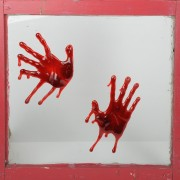Bloody Hands Window Splatz