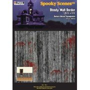 Spooky Scenes 25' Bloody Wall Border