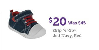 $20 Was $45 Grip 'n' Go Jett Navy, Red
