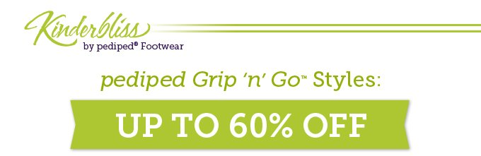 Kinderbliss by pediped Footwear. pediped Grip 'n' Go Styles: Up to 60% off