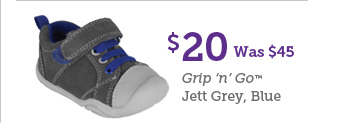 $20 Was $45 Grip 'n' Go Jett Grey, Blue