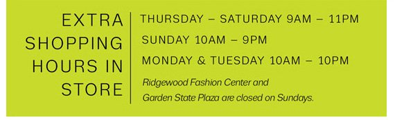 Extra Shopping Hours In Store