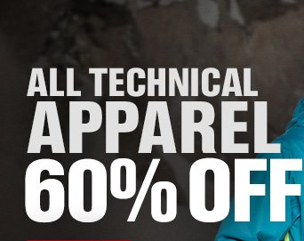 ALL TECHNICAL APPAREL 60% OFF