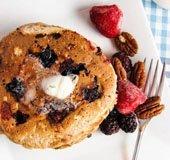 Whole Wheat Fruit and Nut Pancakes