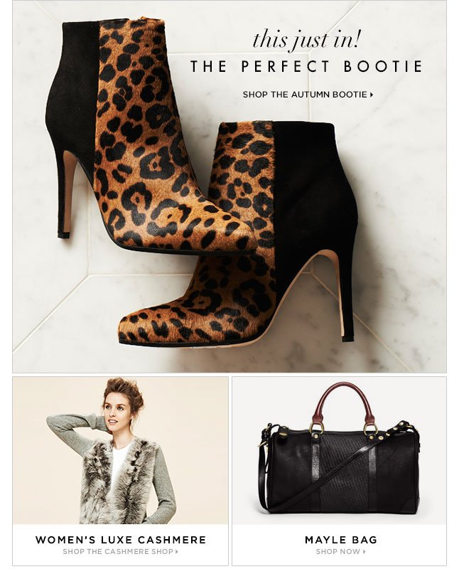 This Just In: The Autumn Bootie, In New Styles