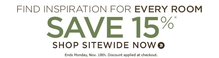 Save 15% sitewide