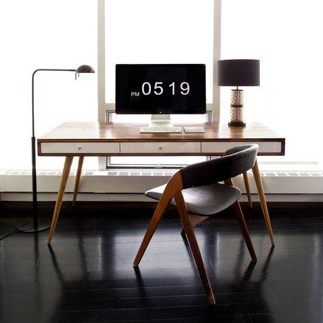 Mid-Century Desk w/ White Drawers