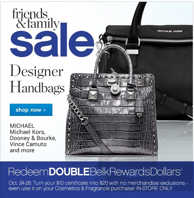 Friends and Family Sale. Designer Handbags. Shop now.