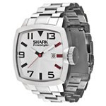 Freestyle 101173 Men's Shark Jester Square Silver Tone Dial Stainless Steel Bracelet Watch