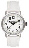 Traser T 4102 Men's Classic Basic White Leather Strap Watch